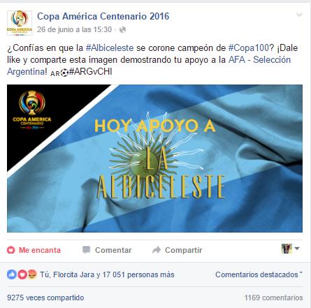 Post principal de Argentina