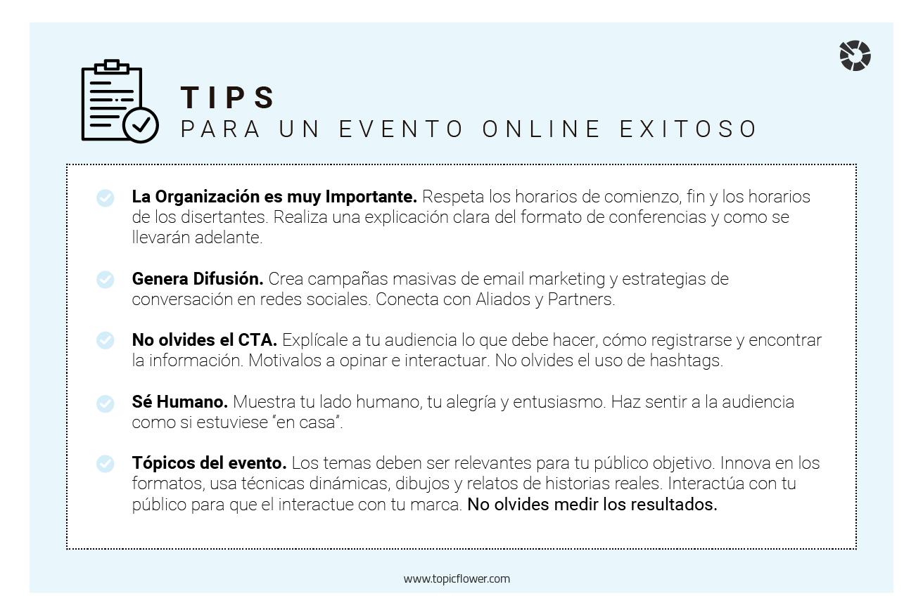 Caso de Éxito: Conversación en Eventos Online - Topicflower BLOG